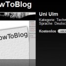 Studentenprojekt: Screencasts zu WordPress 2.7