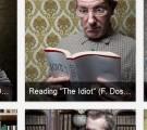 Lesende Männer mit Putzkurs